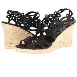 Jillian Women Open Toe Leather Wedge Heel